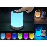 Bluetooth speaker with built-in LED touch-lamp